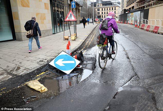 Pothole stock